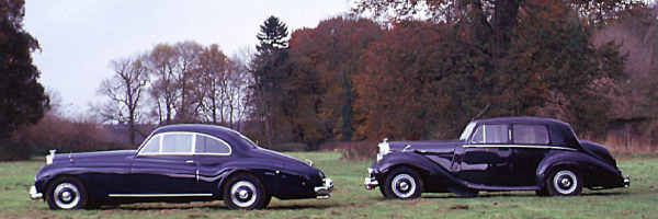 Bentley R, 1954, #B77WG, Standard Steel Sports Saloon and Bentley R, 1953, B271SP, Abbott Two-Door Sports Saloon.
