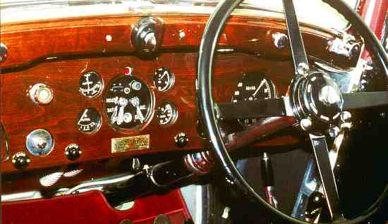 Bentley 3 ½ Liter, Dashboard